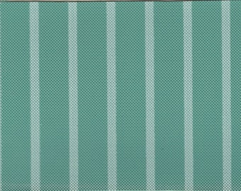 BTY Vintage Green and White Striped Auto Vinyl
