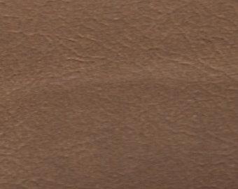1 1/4 Yards Vintage Copper Brown Auto Vinyl w/ Fine Grain
