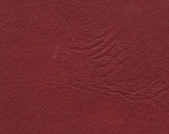 2 2/3 Yards Dark Red Vintage Auto Vinyl w/ Leather Like Texture