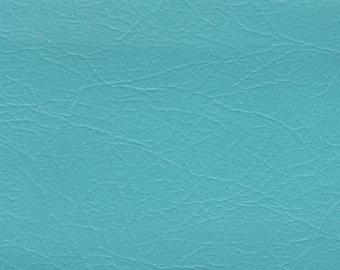1 5/6 Yards Vintage Turquoise Auto Vinyl w/ Fine Grain