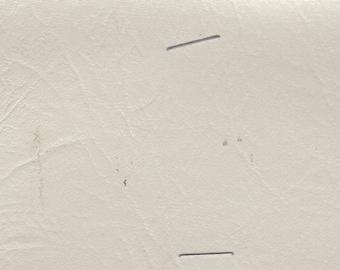 BTY Vintage White Auto Vinyl w/ Leather Like Texture