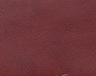 1 1/4 Yards Vintage Deep Red Auto Vinyl w/ Fine Grain