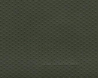 1 3/4 yards 1972 GM avocado green perforated dots