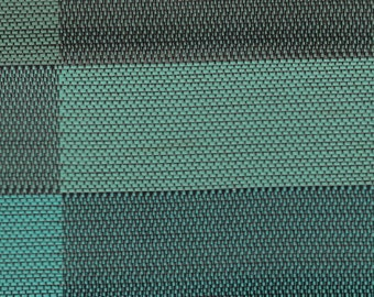 BTY Vintage Green Plaid Woven Auto Vinyl