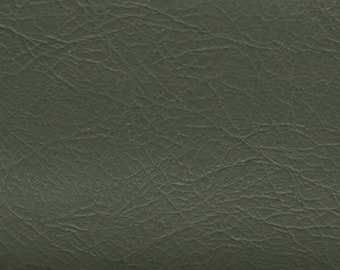 1 1/3 yards vintage medium avocado green auto vinyl w/leather like grain