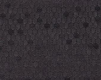 BTY Vintage Black Auto Vinyl Headliner w/ Heat Pressed Hexagons