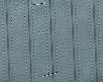 1 Yard 1973 Ford Mercury / Maverick / Comet Vintage Light Steel Blue Auto Vinyl w/ Half Inch Channels