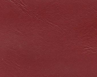 1 1/2 Yards 1976 GM Vintage Red Auto Vinyl w/ Fine Grain