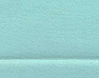 1 5/6 Yards 1961 Vintage Aqua Blue Auto Vinyl w/ Rhino Skin