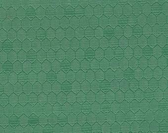 BTY Vintage Green Auto Vinyl Headliner w/ Heat Pressed Hexagons