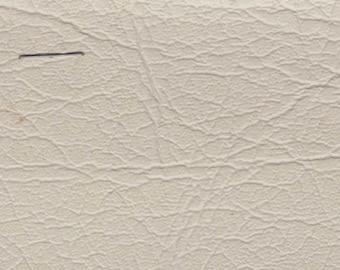 BTY White Vintage Faux Leather Auto Vinyl w/ Elephant Skin