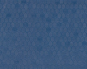 BTY Vintage Blue Auto Vinyl Headliner w/ Heat Pressed Hexagons