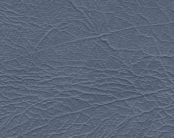 BTY Vintage Grey Blue Auto Vinyl w/ Heavy Grain