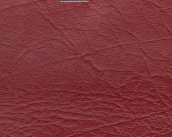 1 5/6 Yards plus Remnant 1978 Chrysler Vintage Red Auto Vinyl w/ Elephant Skin
