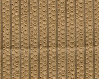 BTY 1973 General Motors mustard color faux woven stripe
