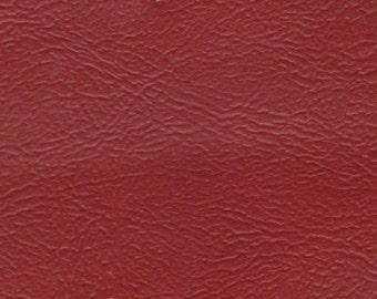 1 2/3 Yards plus Remnant 1976 GM Vintage Red Auto Vinyl w/ Fine Grain