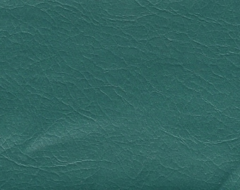 BTY dark grass green vintage auto vinyl w/leather like grain