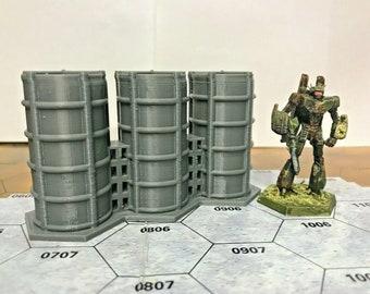 BattleTech/CityTech - Mapscale Building - 3-Hex Fuel Tanks