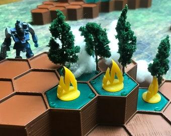 Battletech / Wargame: Fire Tokens x12