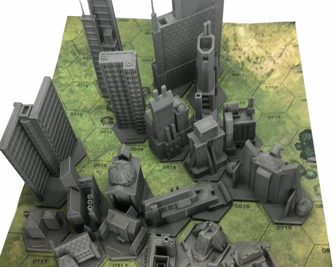 Featured listing image: BattleTech/CityTech - 18 x Mapscale Buildings (Full Set)