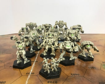 Battletech Miniatures - 17x Clan Omni Mechs and Battle Armor MWO style