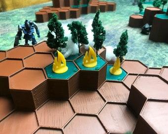 Battletech / Table Top Wargames - Mapscale Modular Hills System
