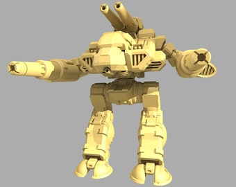Battletech Miniatures - Stone Rhino (Behemoth)  MWO Style - 3D Printed on demand - Defiance Industries Exclusive