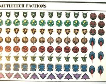 Battletech Decals - Mixed Sets