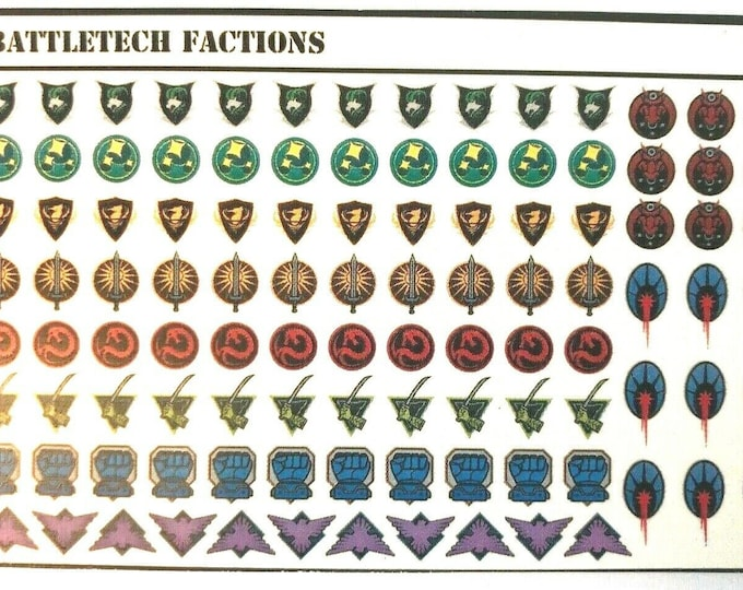 Featured listing image: Battletech Decals - Mixed Sets