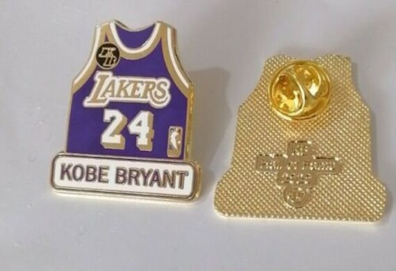 Los Angeles Lakers Kobe Bryant 24 Shiny Gold Jersey Hall of | Etsy