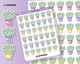 Water plants planner stickers uk   cactus succulent planner stickers   deco planner stickers   stickers for diary   planning stickers
