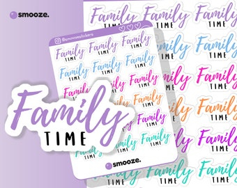 Family time planner stickers | planner stickers uk | functional planner stickers | cute planner stickers