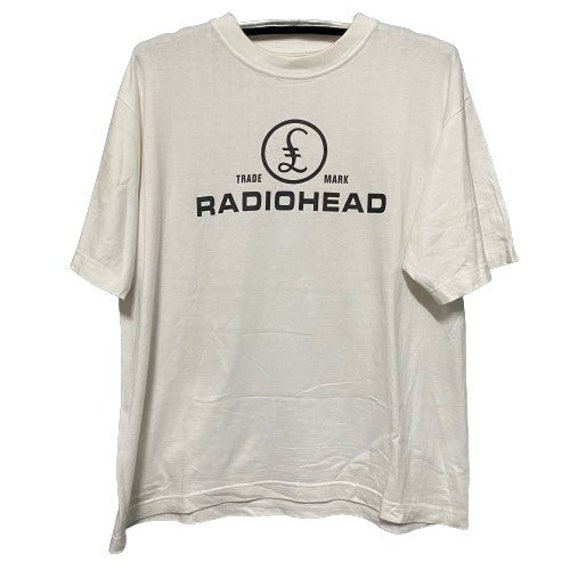 Authentic Vintage Radiohead Band Shirt White Color