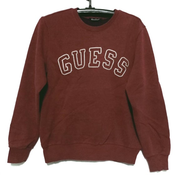 Guess Jeans Crewneck Sweatshirt Red Color