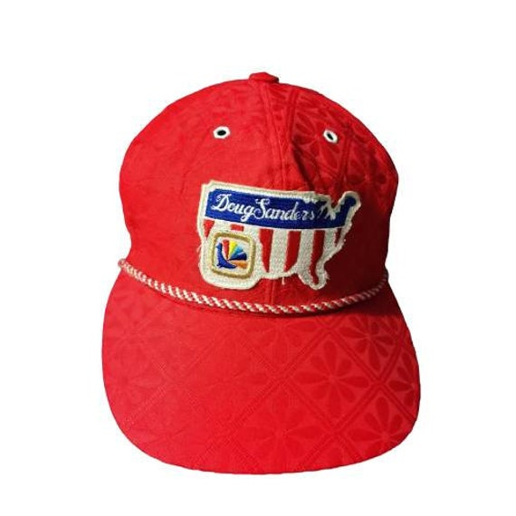 Authentic Doug Sanders Vintage Snapback Cap Red  C