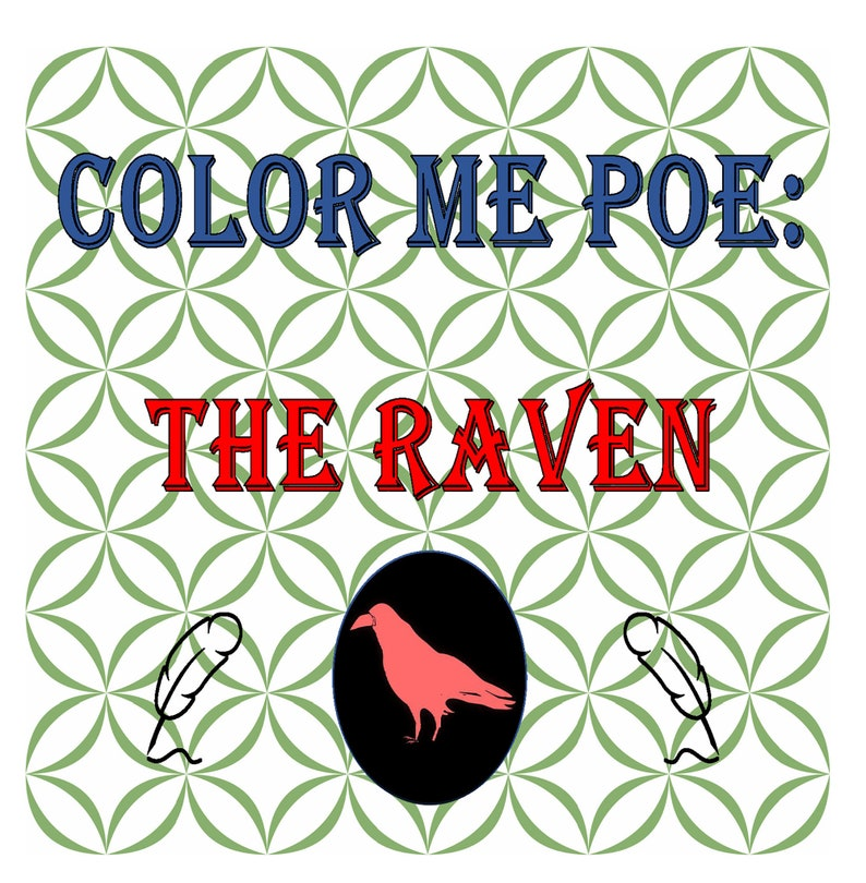 Color Me Poe: The Raven By WordPunk image 0