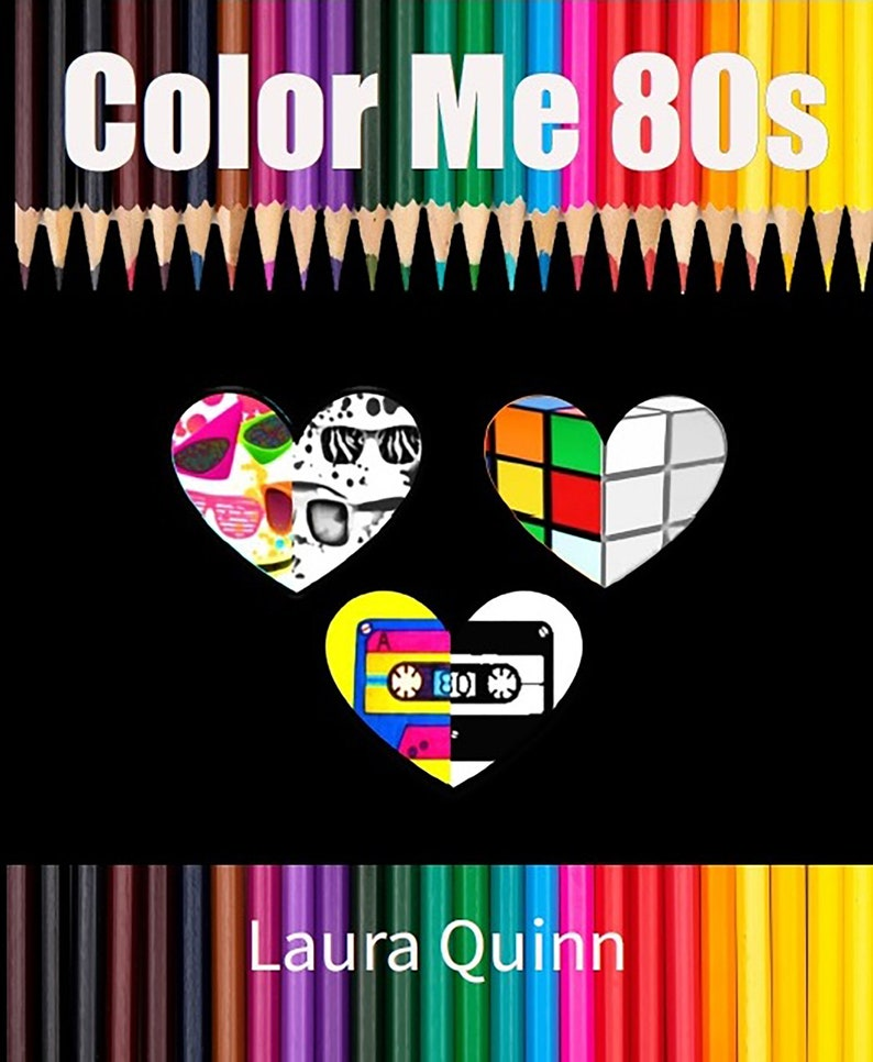 Color Me 80s Coloring Book By WordPunk image 0