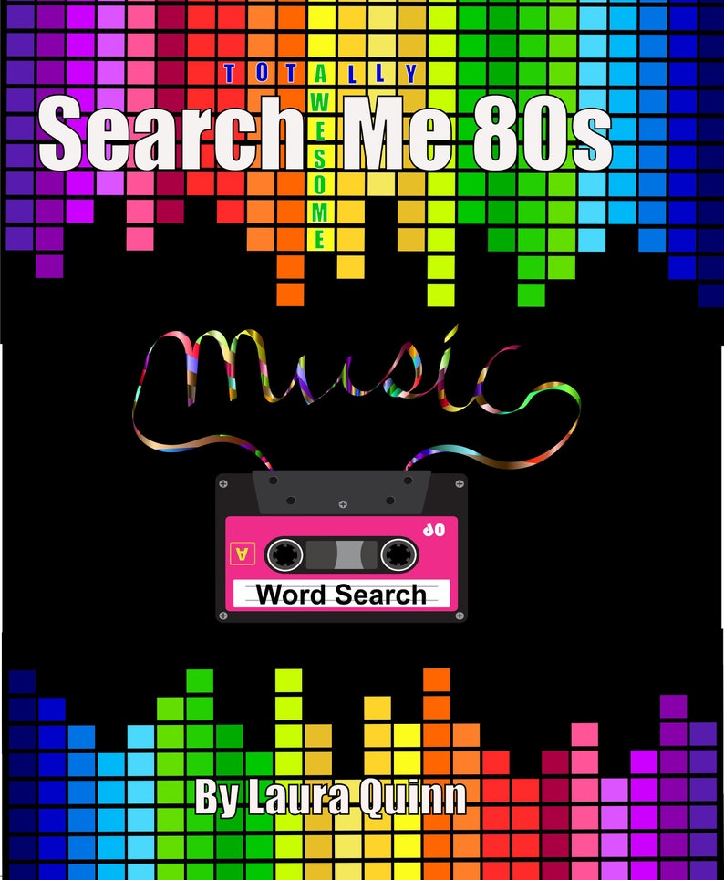 Search Me 80s Music Word Search Puzzles By WordPunk image 0