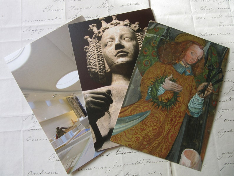 Set of French Postcards from the Paris Cite MuseumSet of 3 for framing or creative usePurchased in Paris