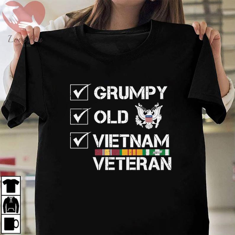 Grumpy Old Vietnam Veteran T-Shirt Masswerks Store