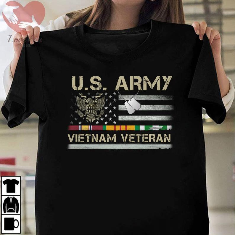 Us Army Vietnam Veteran Usa Flag T Shirt Masswerks Store