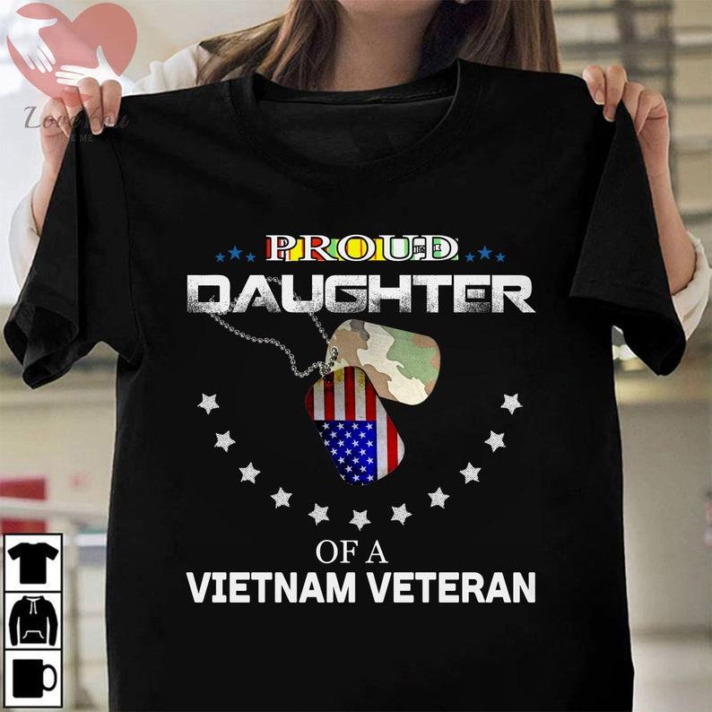 Proud Daughter Of A Vietnam Veteran T Shirt Masswerks Store
