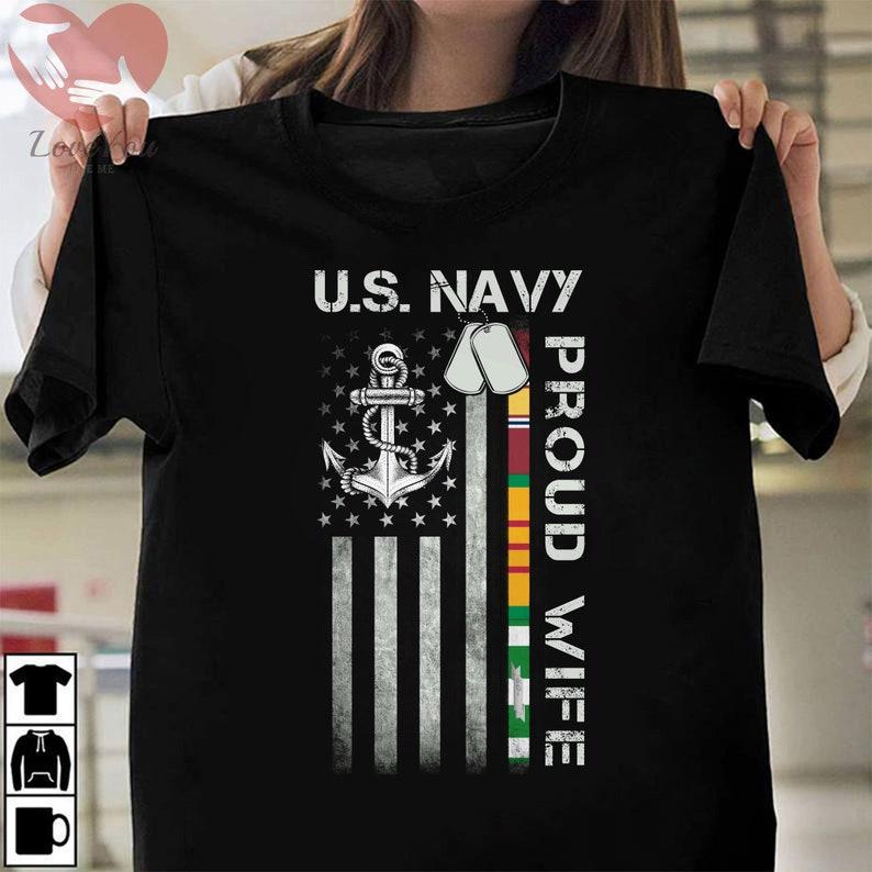 Us Navy Proud Wife Vietnam Veteran T Shirt Masswerks Store