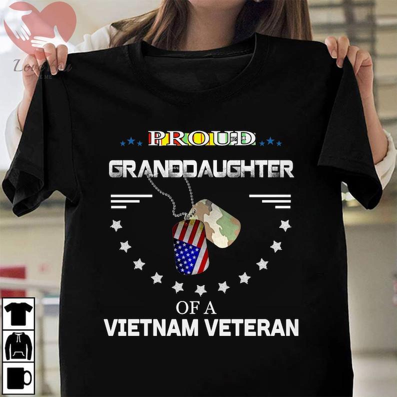 Proud Granddaughter Of A Vietnam Veteran T Shirt Masswerks Store