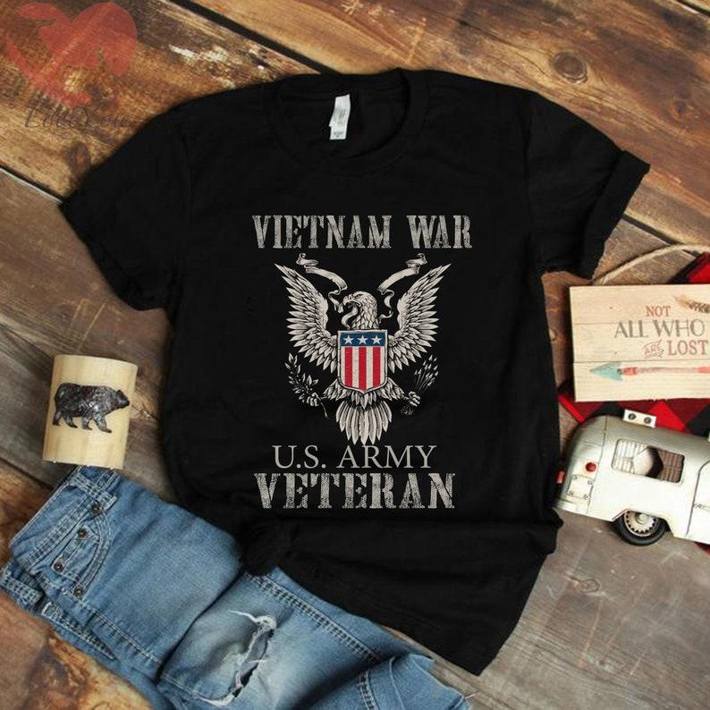 Us Army Vietnam Veteran T Shirt Masswerks Store