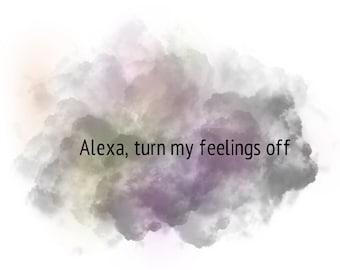 FUNNY! Alexa Command Painted Rock Turn my feelings off