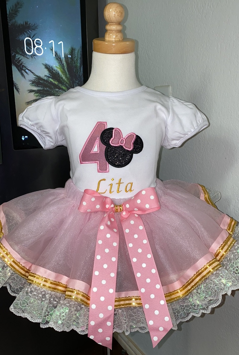 1st birthday Minnie OutfitBirthday Mouse OutfitMinnie Mouse Shirt