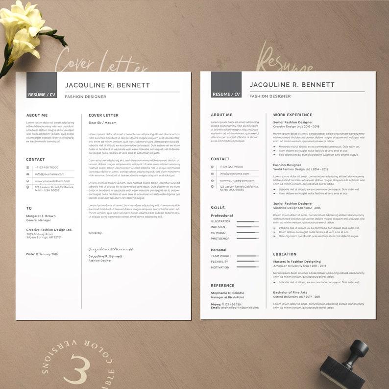 Professional Resume Nurse Resume Teacher Resume Feminine Resume Students Resume Marketing Resume Cover Letter Word resume template