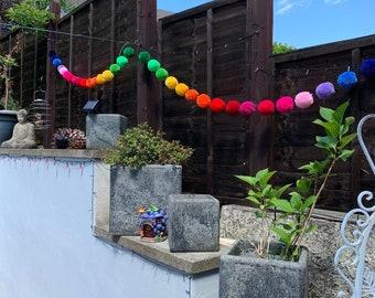 Rainbow PomPom Garland