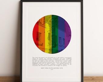 Stonewall Inn Uprising | Pride | LGBTQ Poster | Lesbian | Bisexual | Transgender | Queer | Gift | Print | Wall Art | INSTANT DOWNLOAD